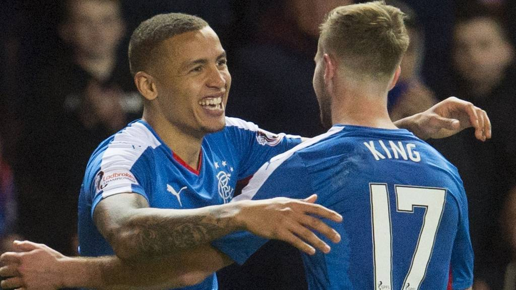 James Tavernier (left) celebrates with Billy King
