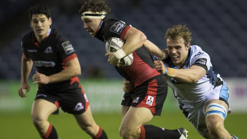 Hamish Watson on the charge for Edinburgh