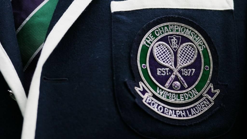 A Wimbledon badge