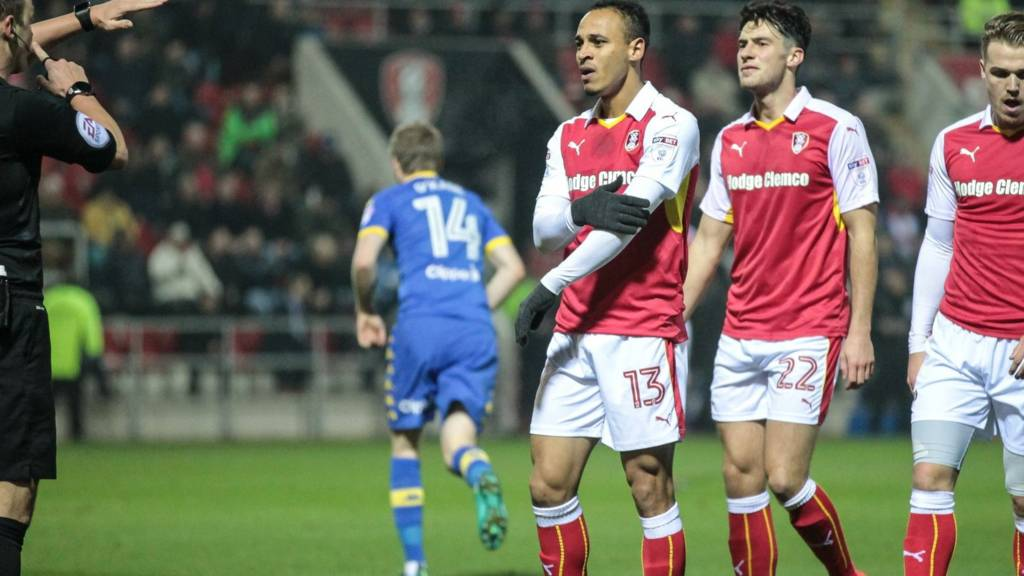 Rotherham's Peter Odemwingie sent off