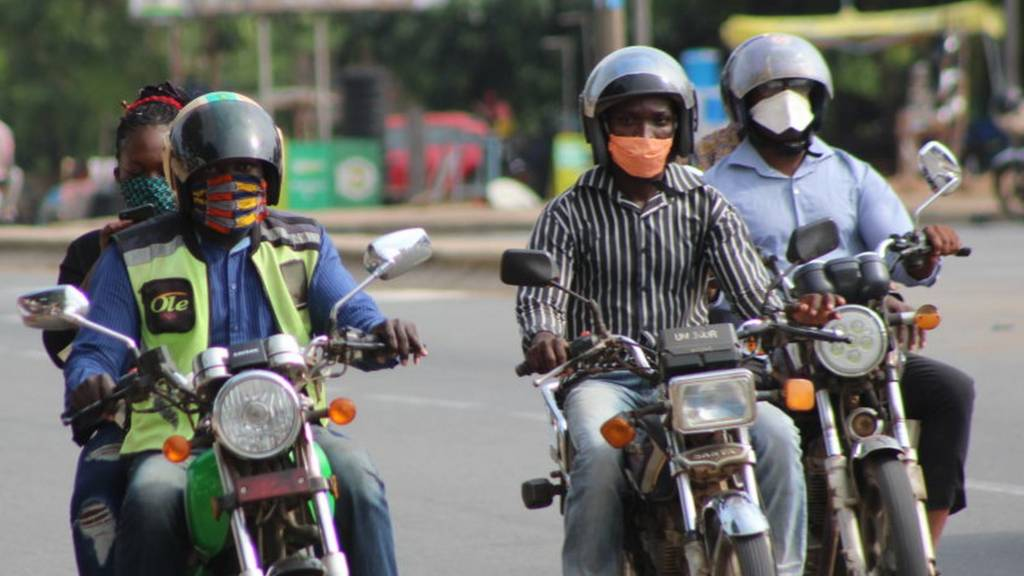 Motorcyclists in Lome, Togo