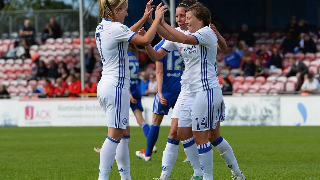 Fran Kirby of Chelsea Ladies FC celebrates