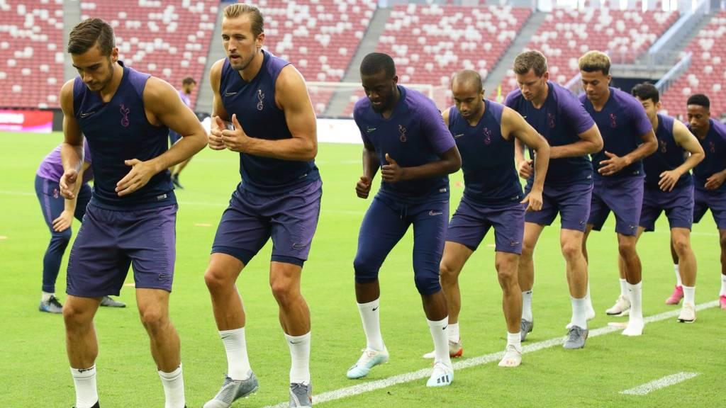 Tottenham squad training