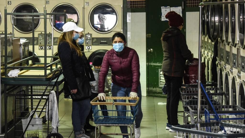 Laundromat in Brooklyn, New York - 2 April