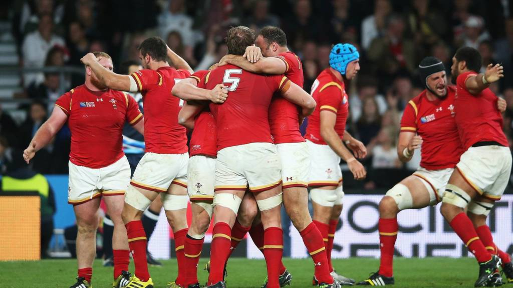 Wales team celebrate