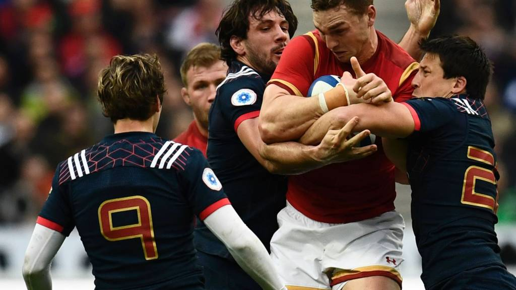 George North is tackled