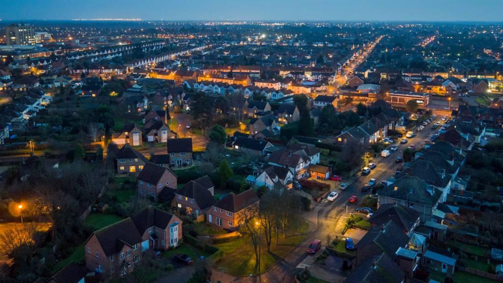Aerial shot of Ipswich