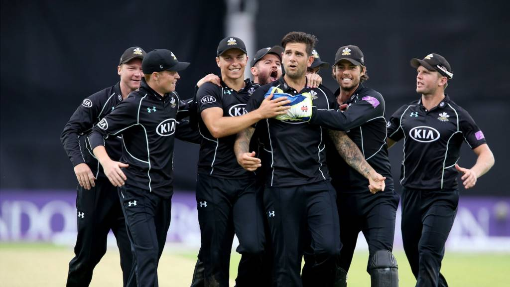 Surrey celebrate reaching finals day