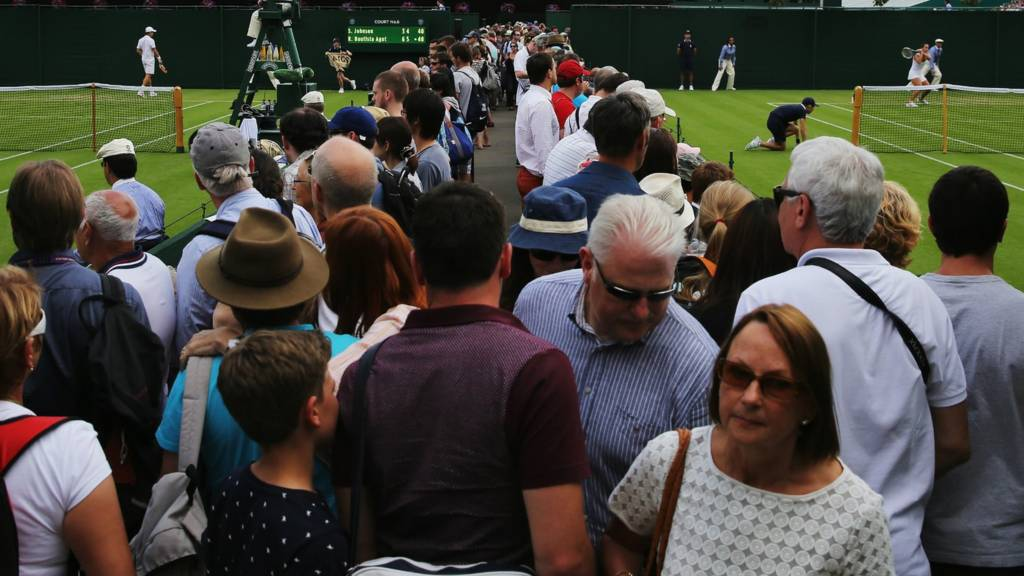 Spectators at Wimbledon