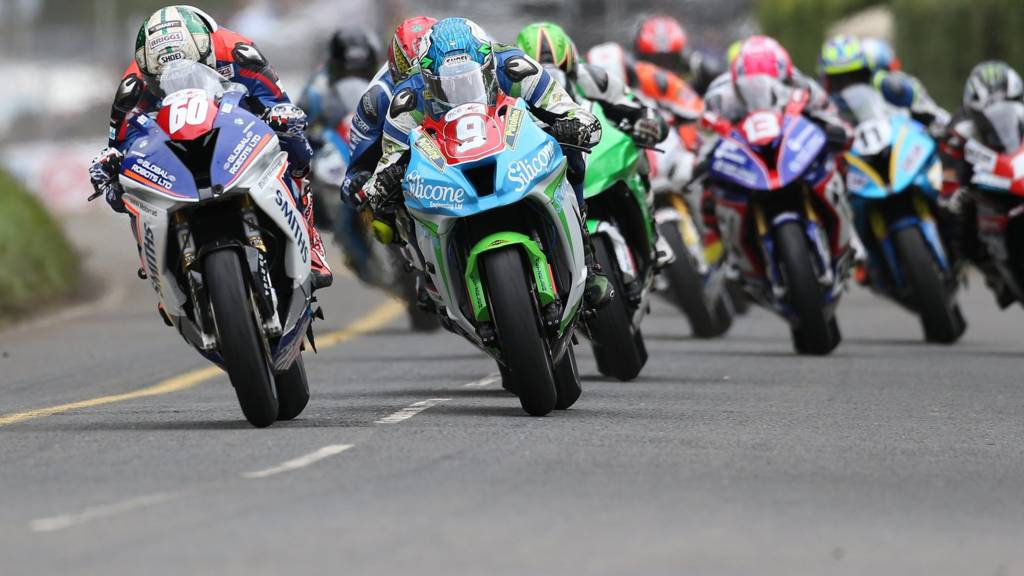 Peter Hickman in action at the Ulster Grand Prix