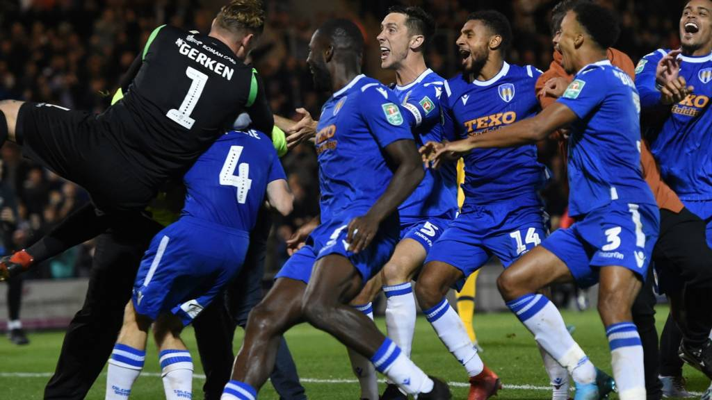 Colchester players celebrate
