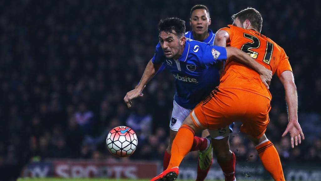 Action from last night's Ipswich Town game at Portsmouth