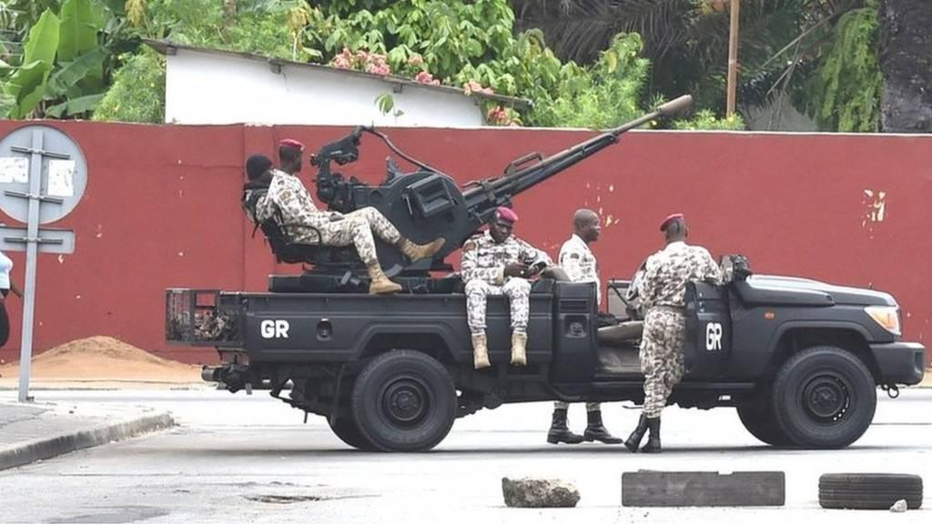 Les mutineries ont repris lundi matin en Côte d'Ivoire