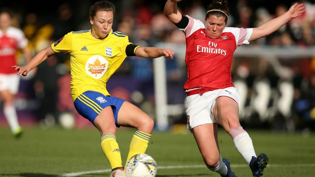 Emma Mitchell makes a tackle
