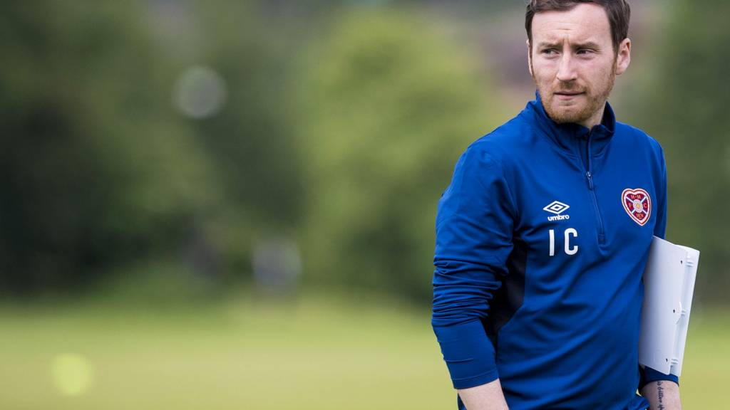 Former Hearts head coach Ian Cathro