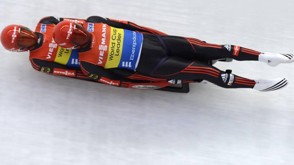 Germany's Tobias Wendl and his teammate Tobias Arlt