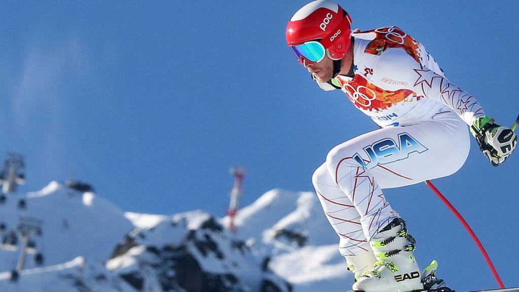 Bode Miller of the US in action
