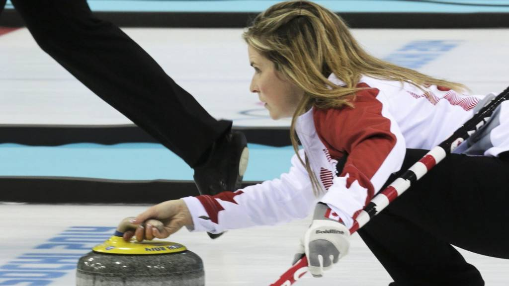Canada's Jennifer Jones in action