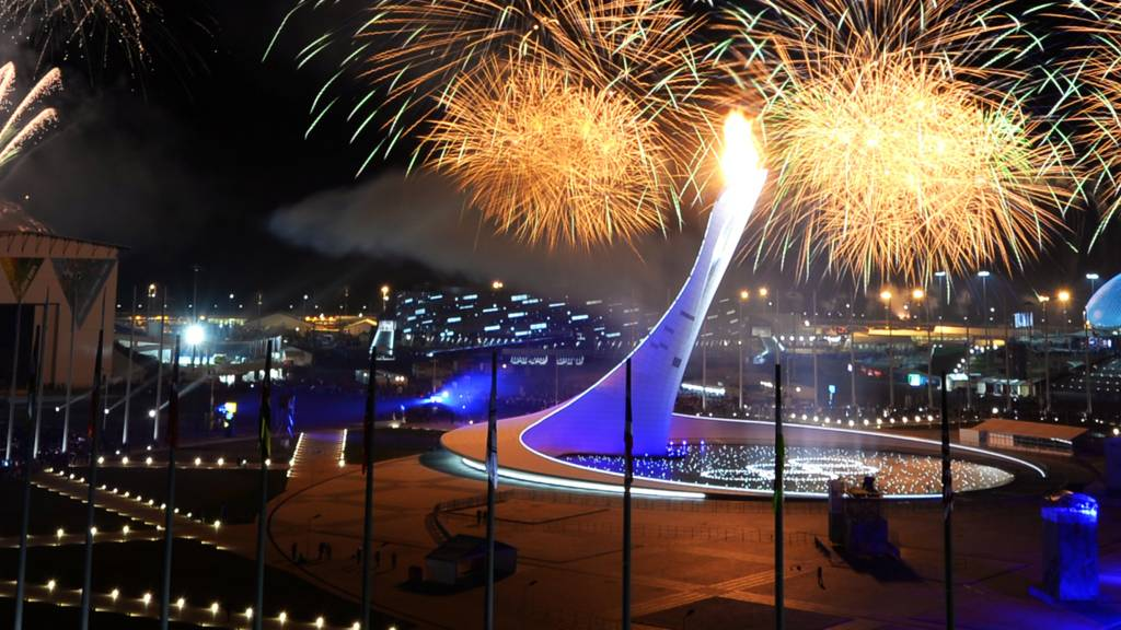 Fireworks in the Sochi Olympic Park