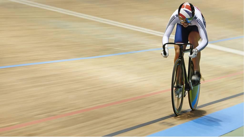 Cyclist Becky James at world cycling championships