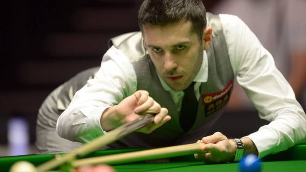 Mark Selby during the 2014 Dafabet Masters at Alexandra Palace