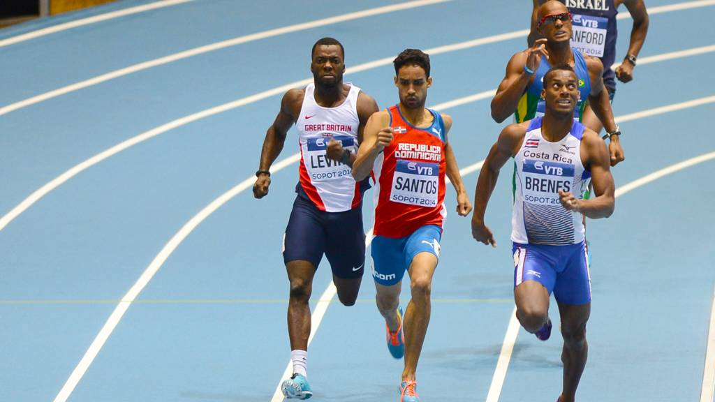 GB athlete Nigel Levine in 400m race