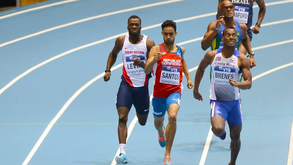 GB athlete Nigel Levine in the 400m
