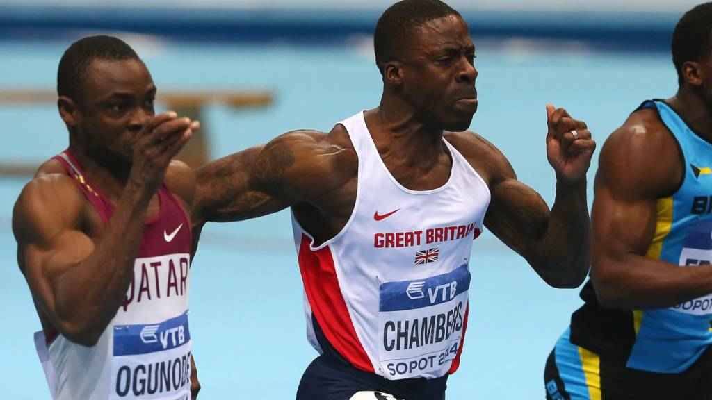 Dwain Chambers in the men's 60m