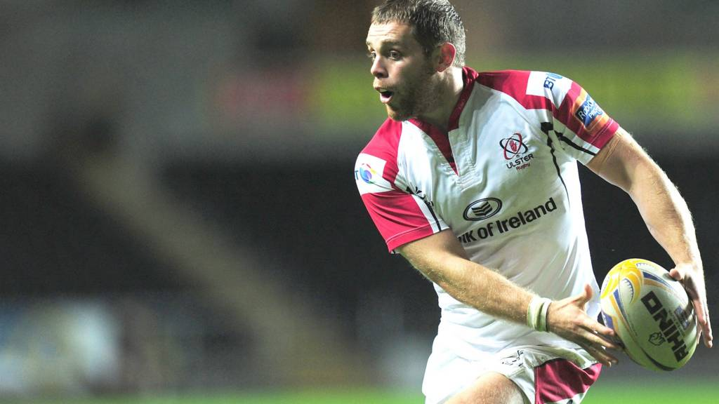 Darren Cave playing for Ulster