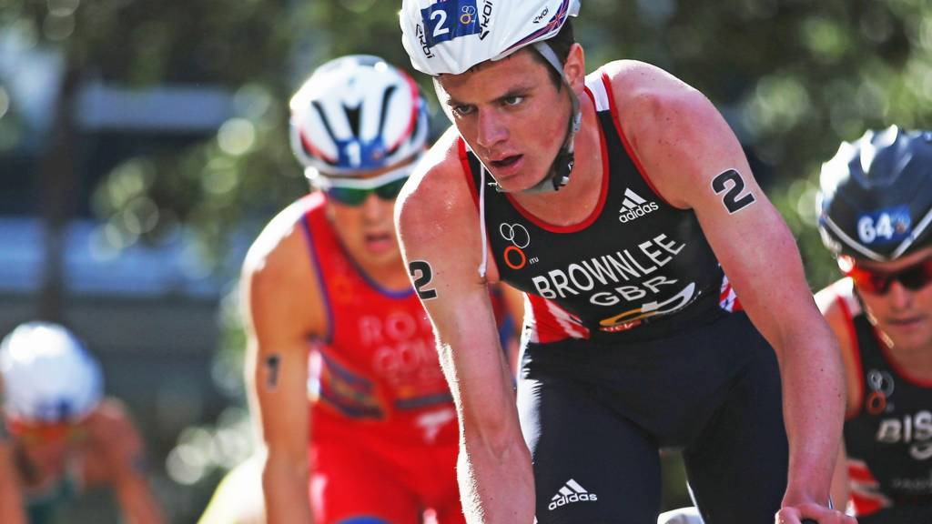 Jonny Brownlee competing in Auckland