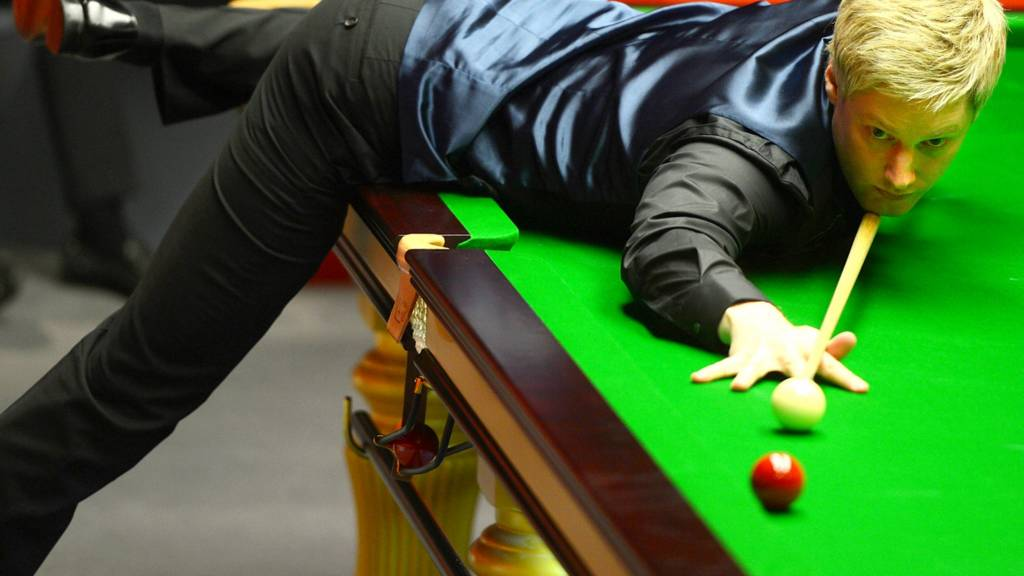 Neil Robertson in his match against Judd Trump