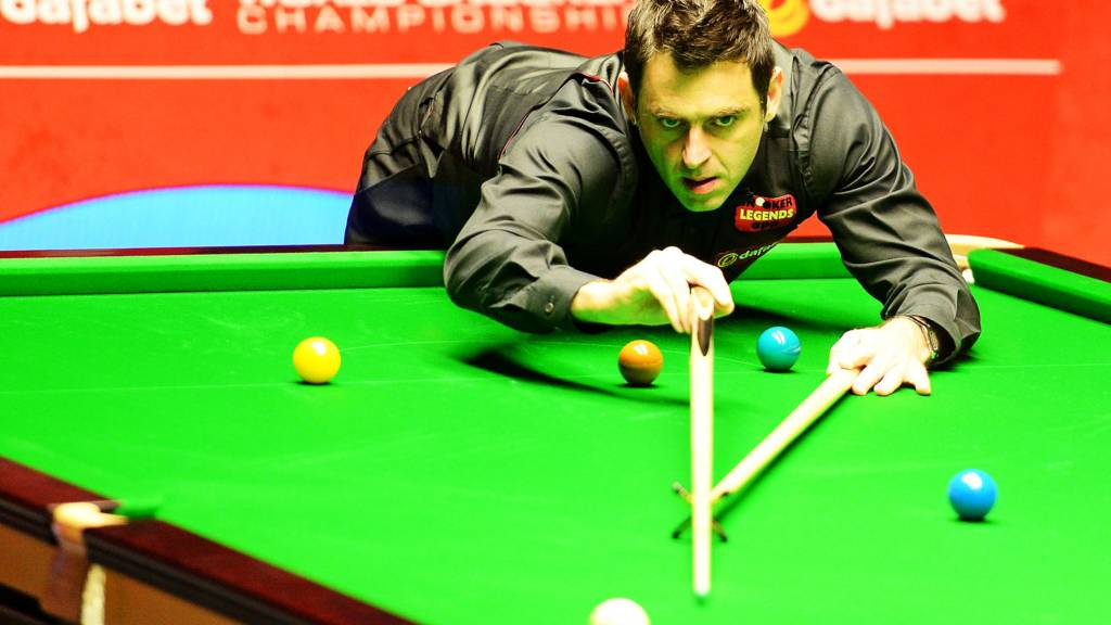 Ronnie O'Sullivan during his match against Barry Hawkins