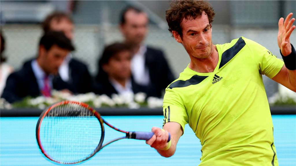 Andy Murray at the Madrid Masters