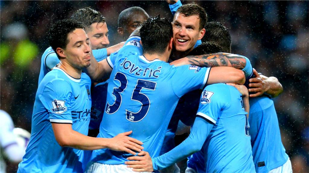 Man City swamp goalscorer Edin Dzeko