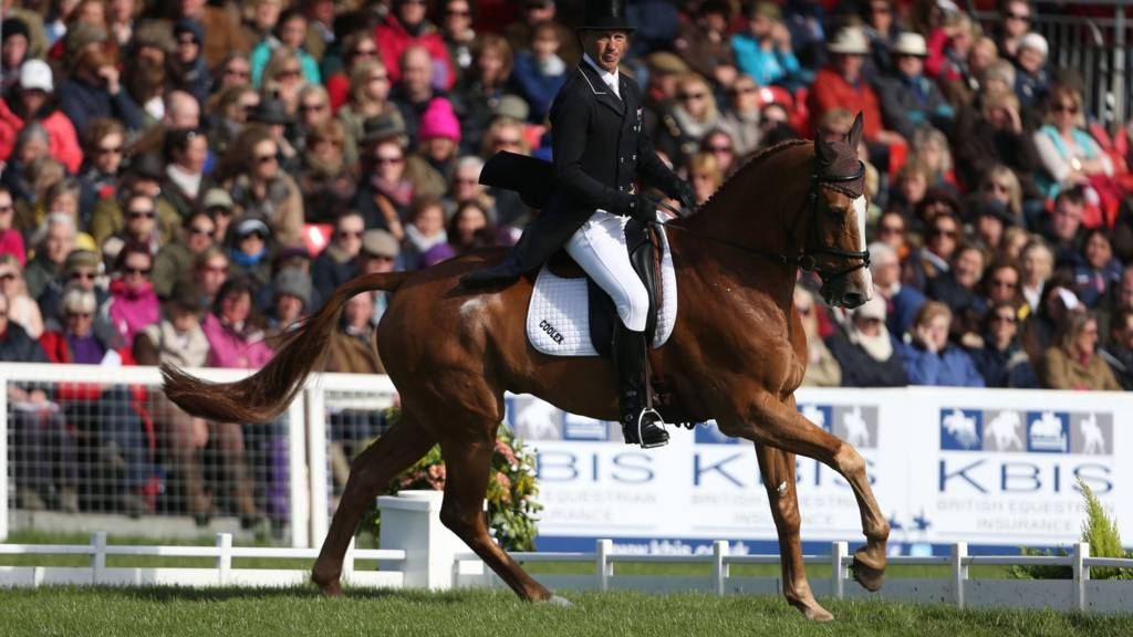 New Zealand's Andrew Nicholson riding Nereo competes in the dressage