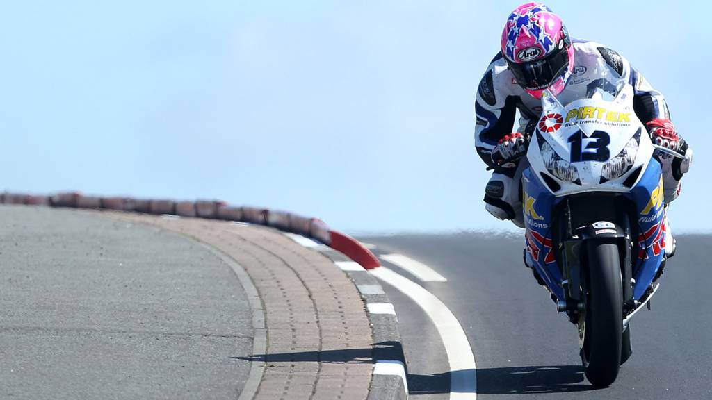 Lee Johnston at the North West 200