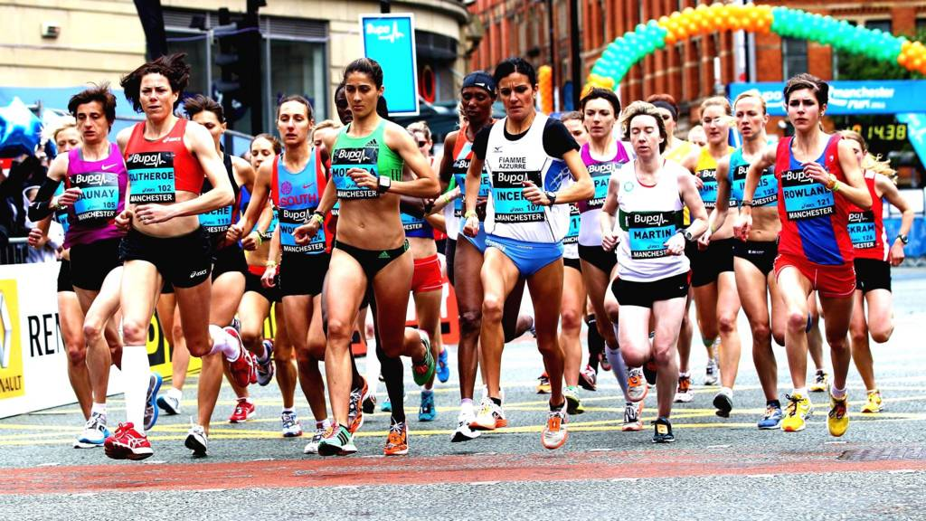 Women's elite Bupa Great Manchester Run leading group