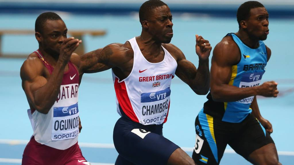 Dwain Chambers at the 2014 World Indoor Championships