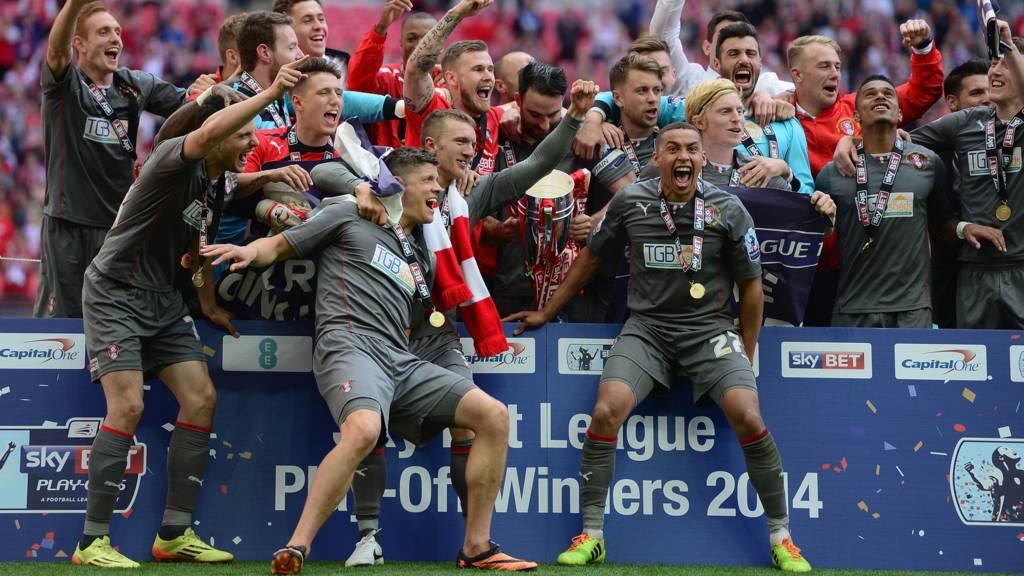 Rotherham celebrate promotion