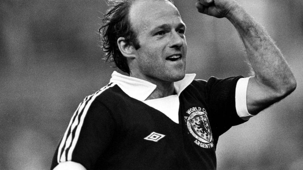 Archie Gemmill celebrates after scoring against the Netherlands