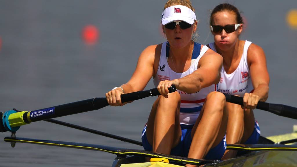 British rowing duo Helen Glover and Polly Swann