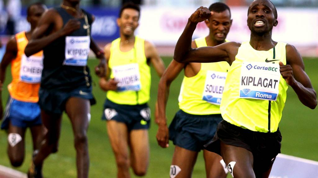 Silas Kiplagat of Kenya at the Diamond League in Rome