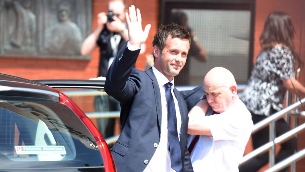 Celtic's new manager arrives at Celtic Park