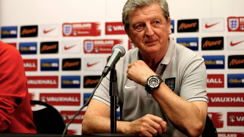 Roy Hodgson at a press conference