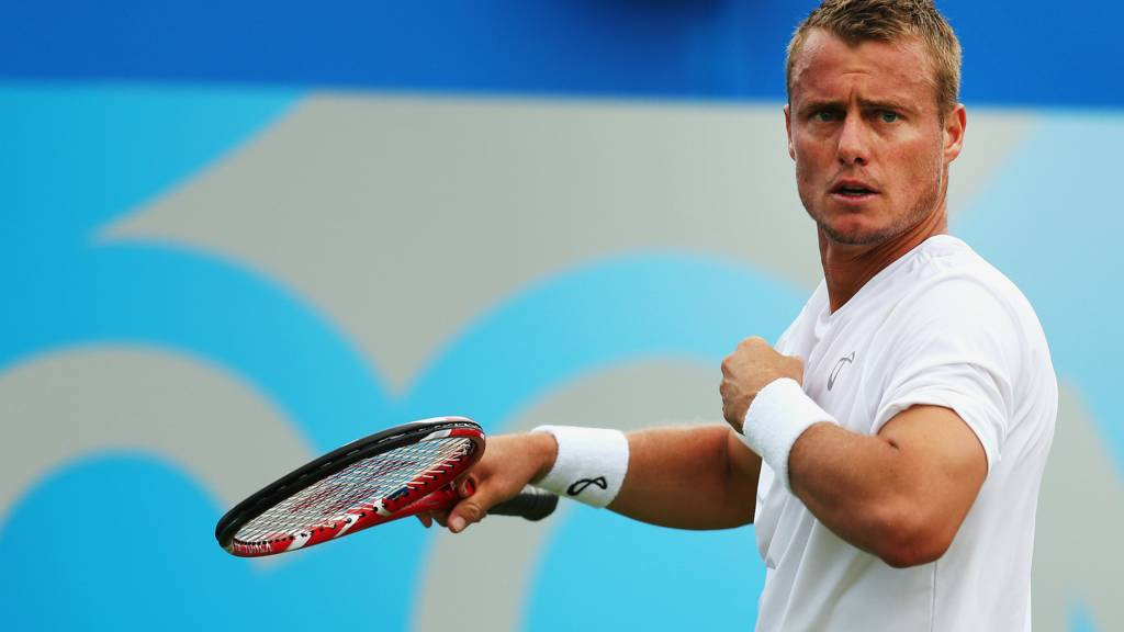 Lleyton Hewitt beats Daniel Gimeno-Traver at Queens