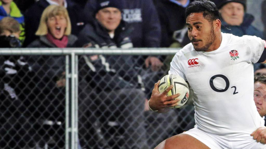 England's Manu Tuilagi in the second Test against New Zealand
