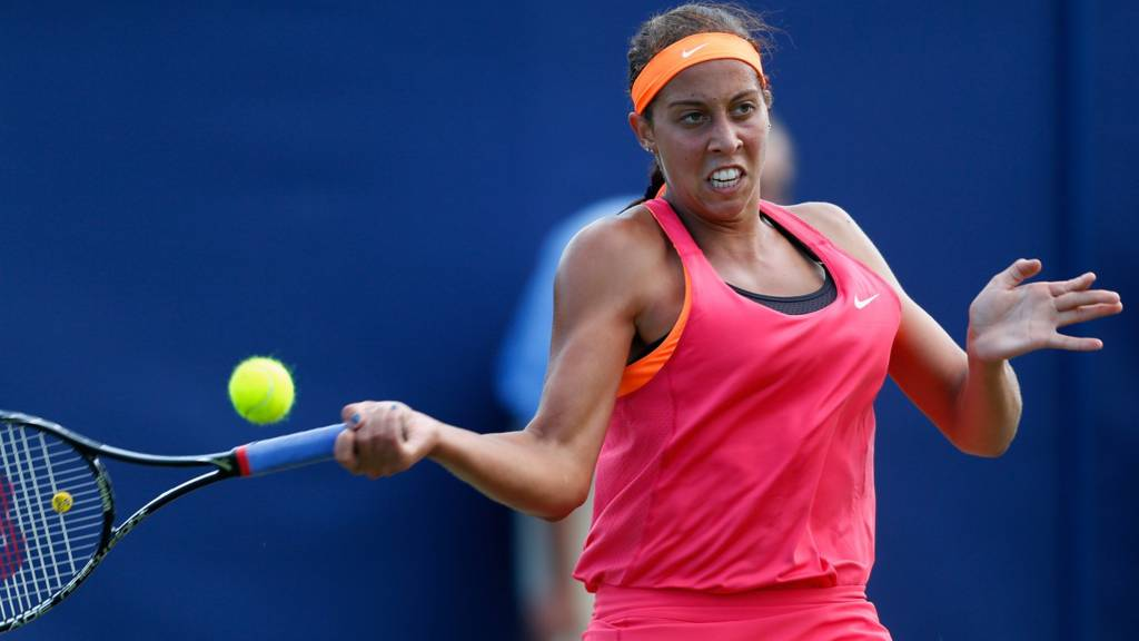 Madison Keys in action
