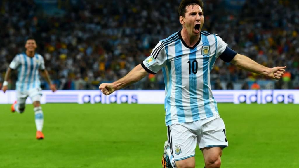 Argentina striker Lionel Messi
