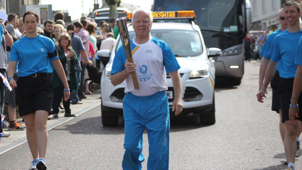 John Barrie carries the baton in Lanark