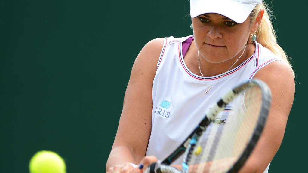 Aleksandra Wozniak at Wimbledon